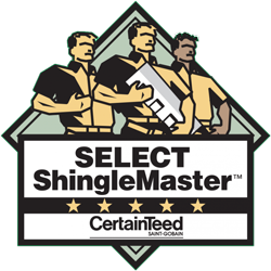 Hodges Roofing & Siding is a credentialed CertainTeed SELECT ShingleMaster