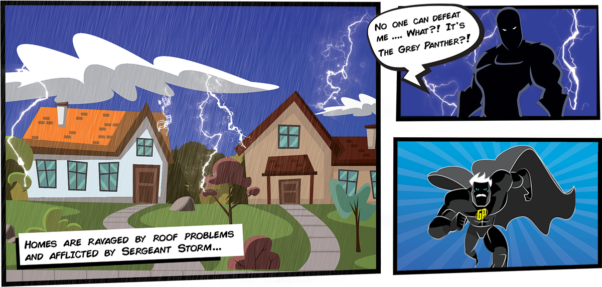 Homes are ravaged by roof problems and afflicted by Sergeant Storm, who says no one can defeat him, until...
